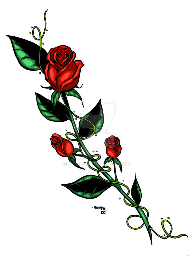 8207a3a01 Rose Tattoo Design by Anmph Rose Tattoo Design by Anmph
