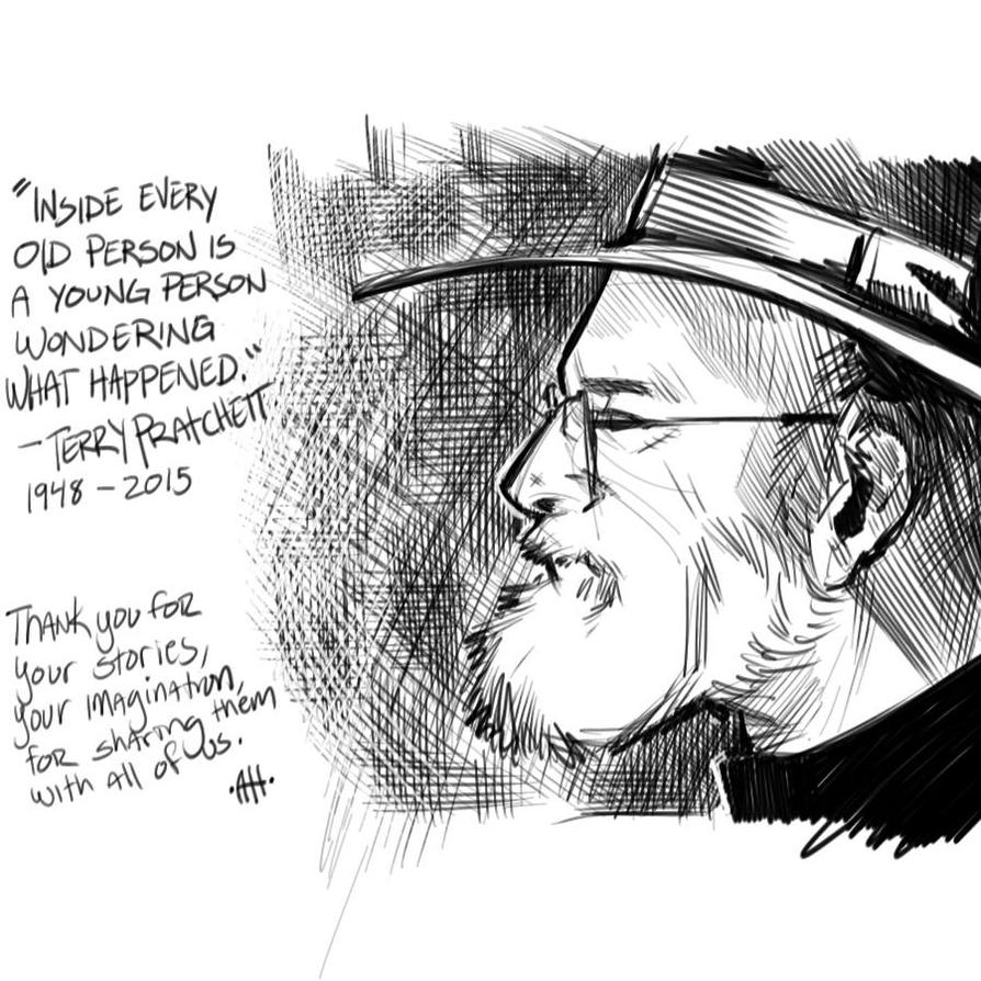 Terry Pratchett by Anmph