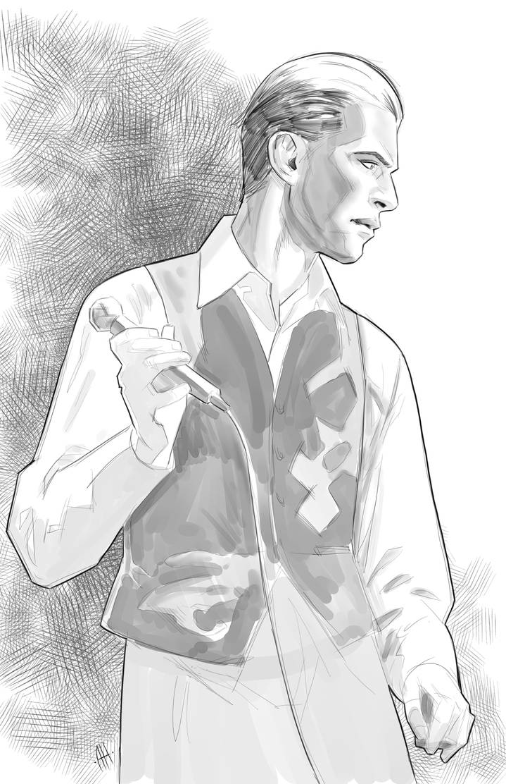 David Bowie sketch  by Anmph