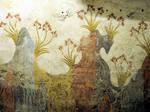 Akrotiri Spring Fresco