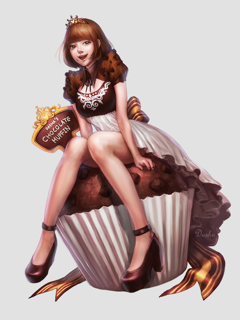 Chocolate muffin by Dasha-Park
