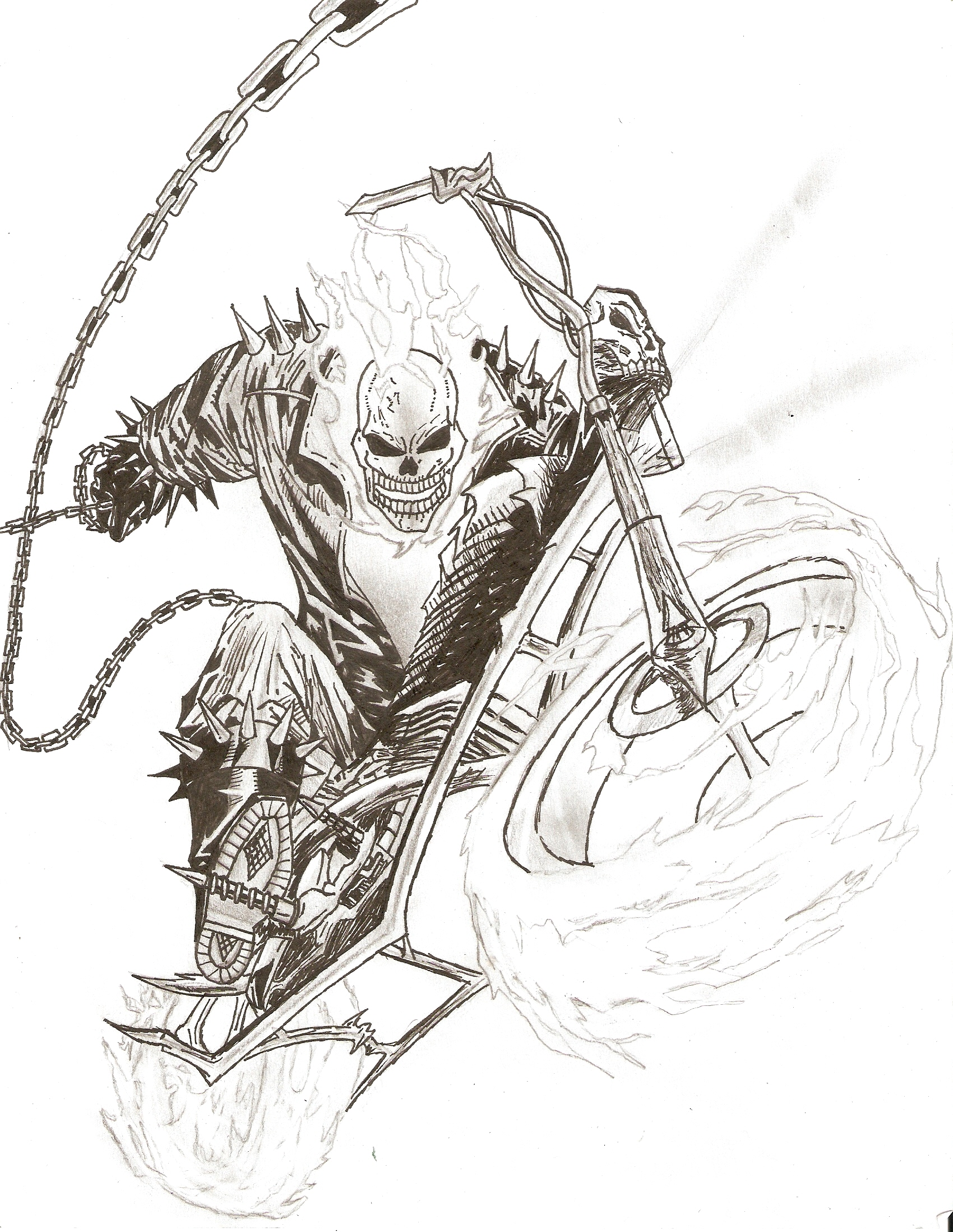 Marvels Ghost Rider By Jorgesotozzz On Deviantart