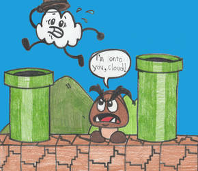 Another normal day for the Lonely Goomba by DrQuack64