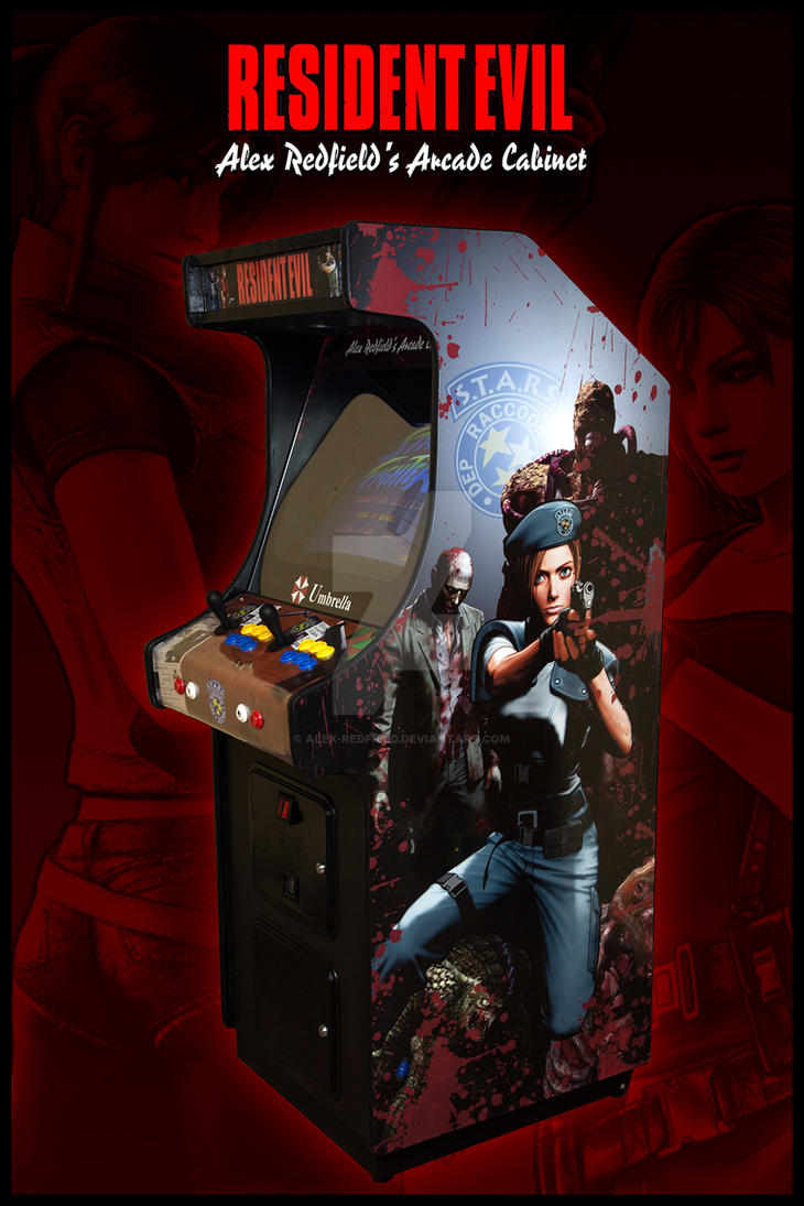 Resident Evil Arcade Cabinet by Alex-Redfield