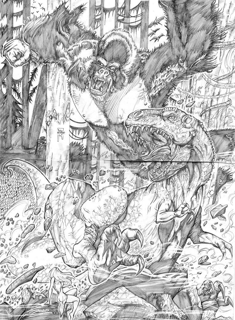 King Kong Vs Tyrannosaurus by CarlosRodriggsArt
