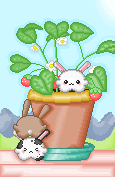Pixel Bunnies For Oborochann by Bounceyflaaffy