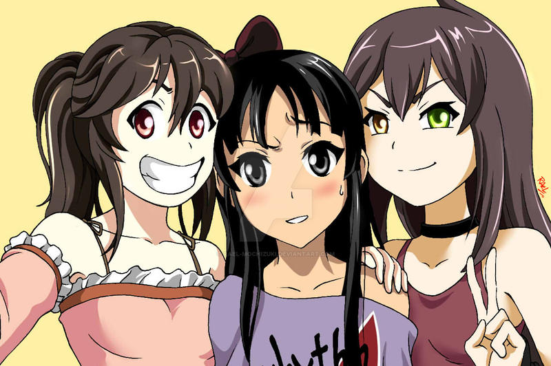 Selfie of the girls from Lunch Time Manga by Rael-Mochizuki
