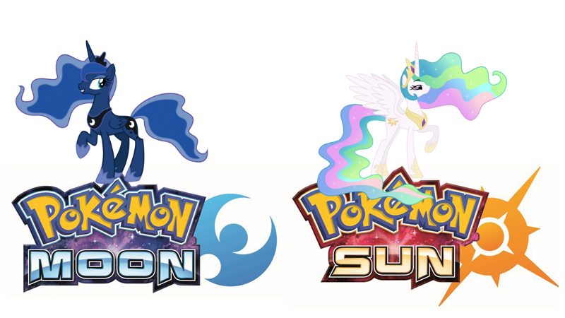 pokemon sun version and moon version in mlp by hthom32