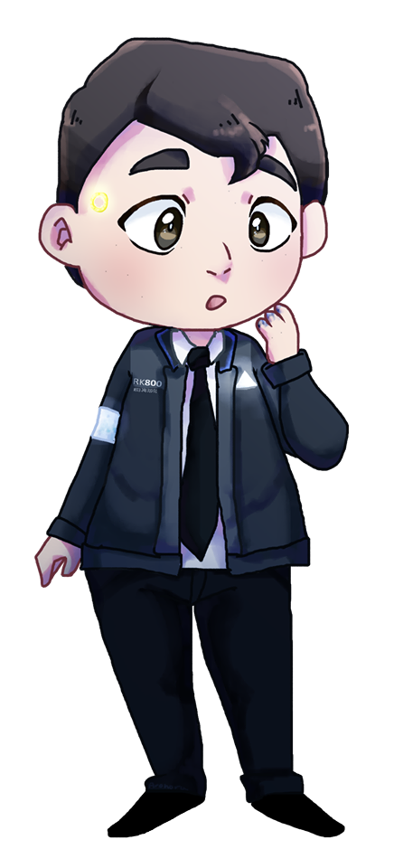 Detroit: Chibi Connor by aronora