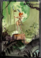 Julie Watercolor fun 3 by PiratoLoco