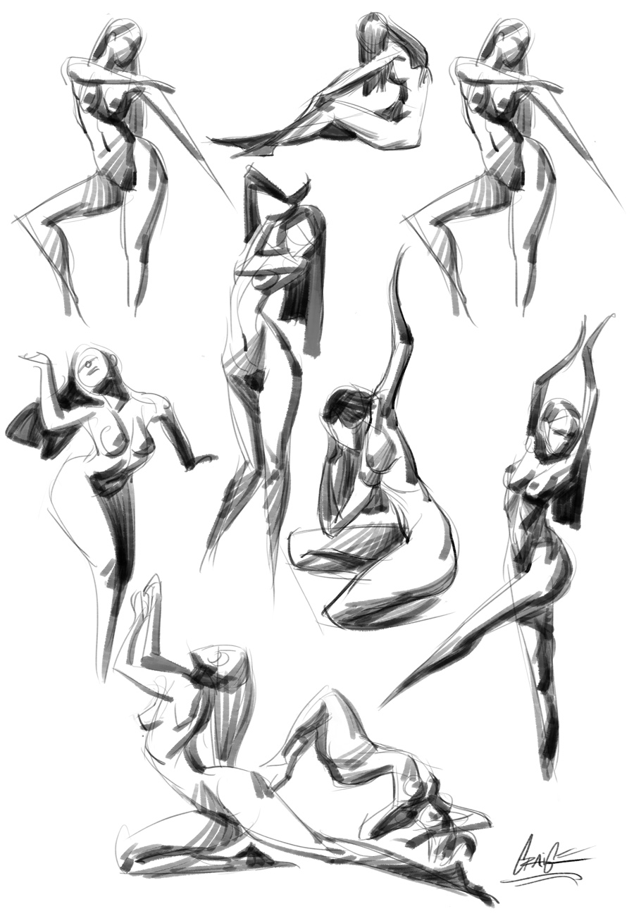 Line Drawing Human : Gesture drawing tool by piratoloco on deviantart