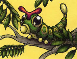 Caterpie by Peachfuzz