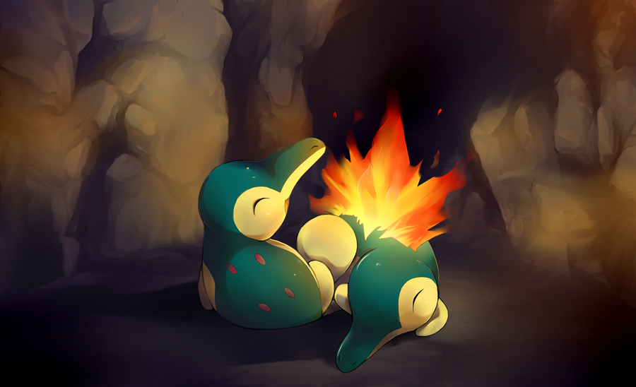 Cyndaquil Wallpaper Cyndaquil cave by eluva Cyndaquil Wallpaper