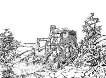 Grayskull lineart by FlyToFerio