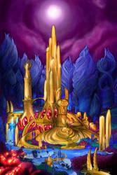 Castle Bright Moon by FlyToFerio