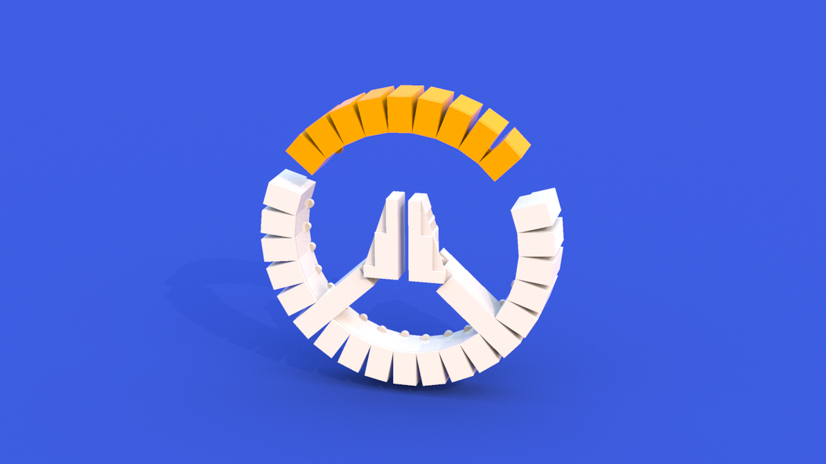Overwatch Logo LEGO Render by PERPU1