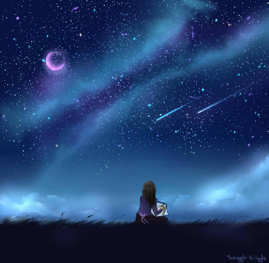 夜晚月亮星星真实夜空星星图片 卡通星星月亮图片图片