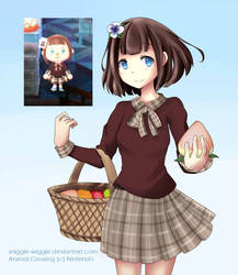 Animal Crossing New Leaf - Mayor of Snowdrop by Poncakes