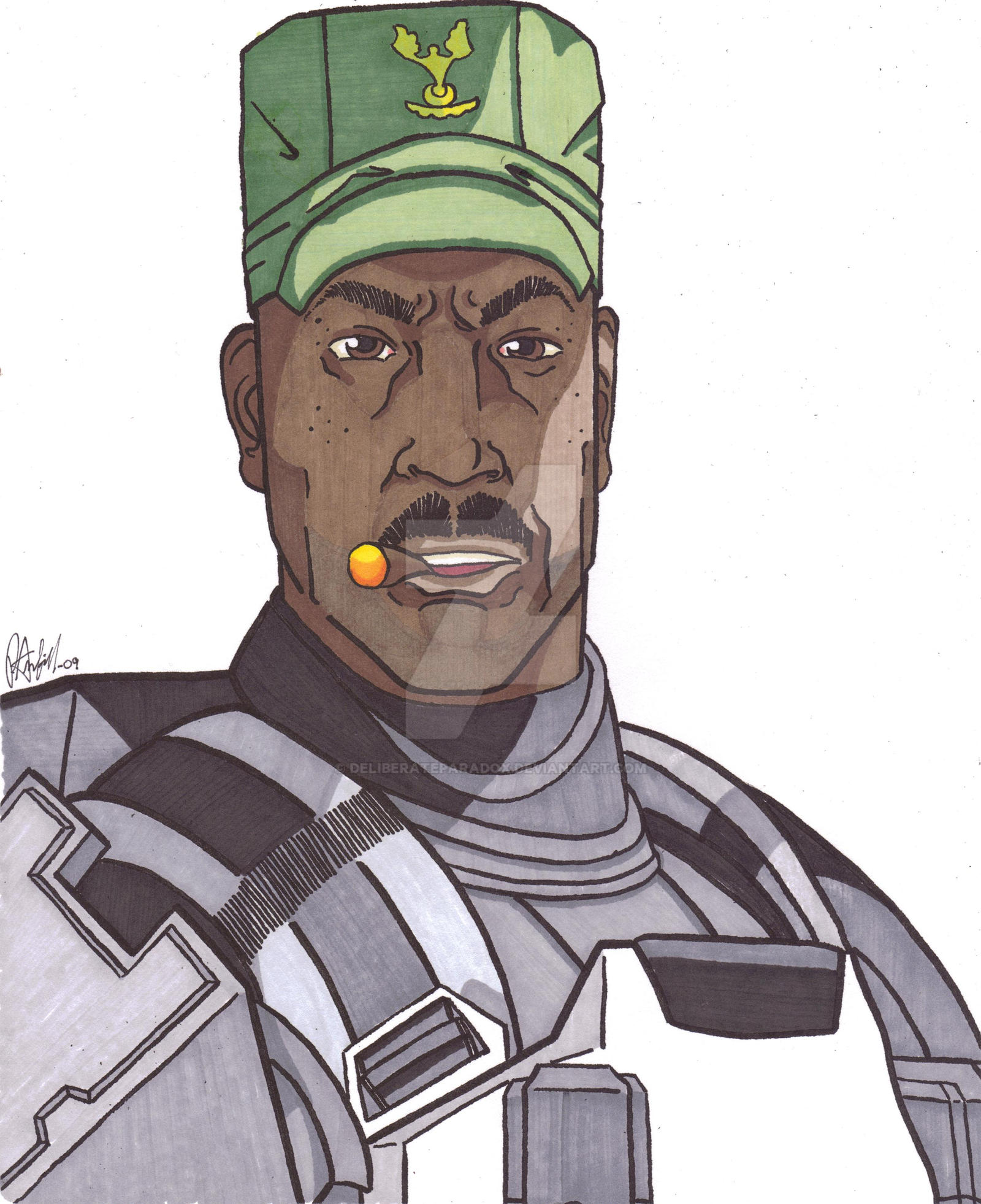 Sgt Avery Johnson by DeliberateParadox on DeviantArt