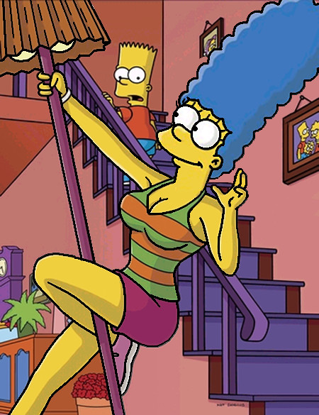 Pole dancing Marge by duck342