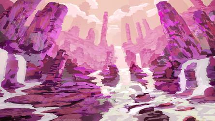 Pink Flows by AntonKurbatov