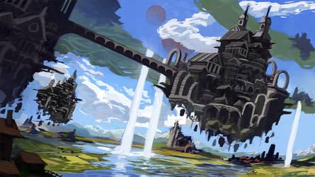 Commission Artwork for EXEp - Fantasy Castle by AntonKurbatov