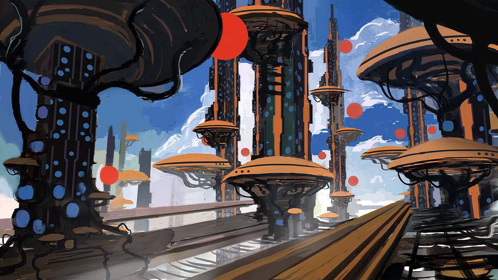 Mushroom City by AntonKurbatov