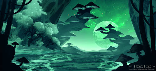 Moonlight passage by AntonKurbatov