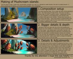 Mushcream islands: step-by-step process by AntonKurbatov