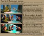 Mushcream islands: step-by-step process