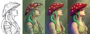 Fungi R.L Step-by-step by AntonKurbatov