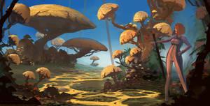 Yellow fungus road