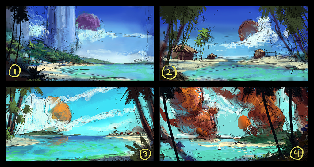 Tropical Moon - Sketches by AntonKurbatov