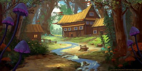 Vaelidian Forest Village by AntonKurbatov