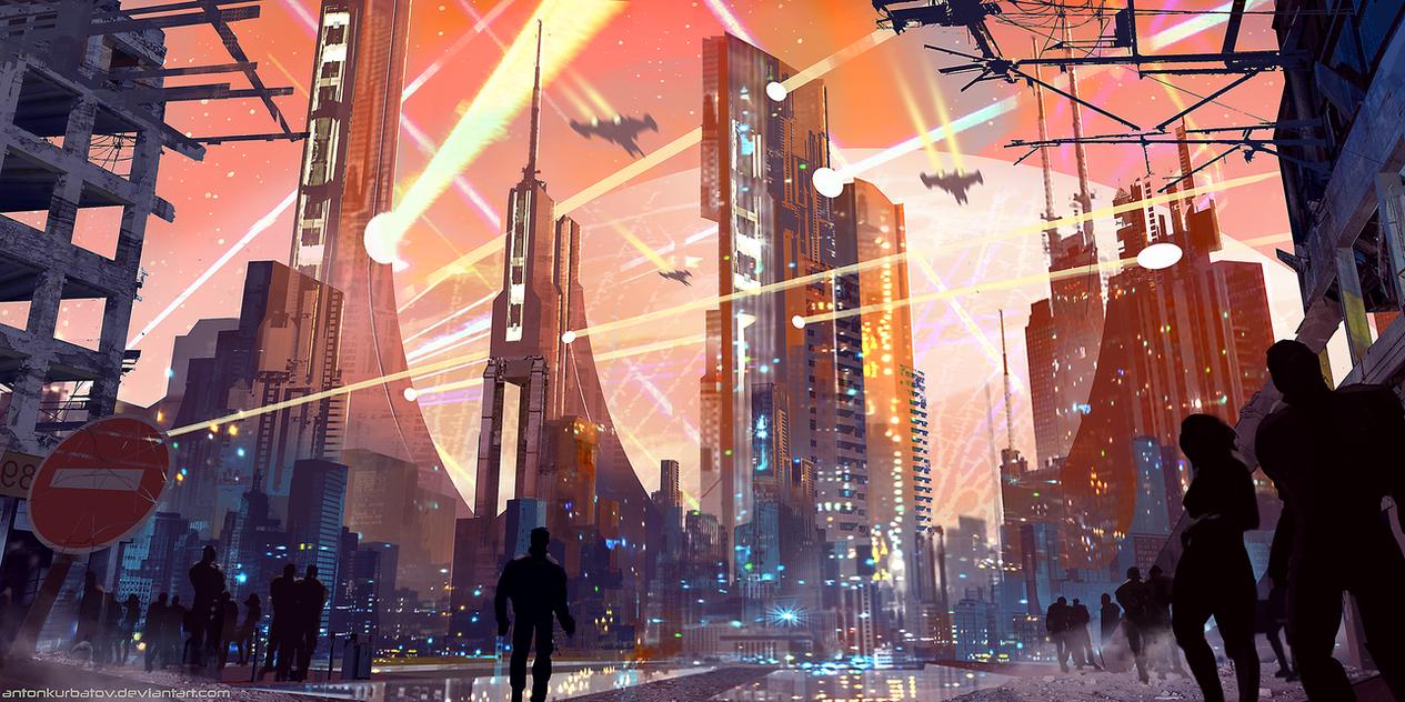 Laser Attack on Nyxion by AntonKurbatov