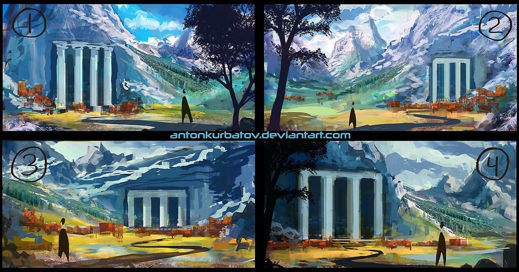Temple Sketches by AntonKurbatov