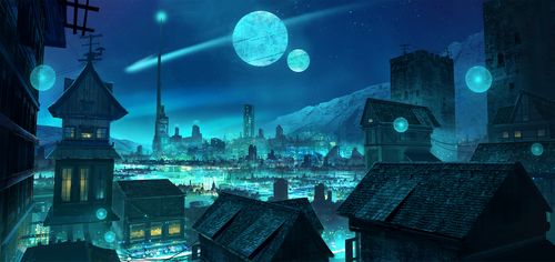 Moonlit Terminus by AntonKurbatov