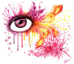Coral Eye (watercolor)