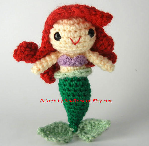 Amigurumi Disney Free Pattern : Disneys Ariel Amigurumi by janageek on DeviantArt