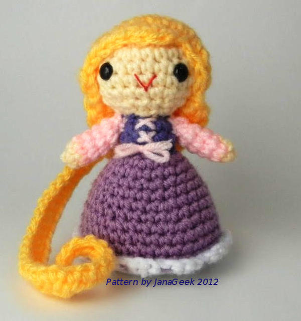 Amigurumi Disney Free Pattern : Disneys Rapunzel Amigurumi by janageek on DeviantArt