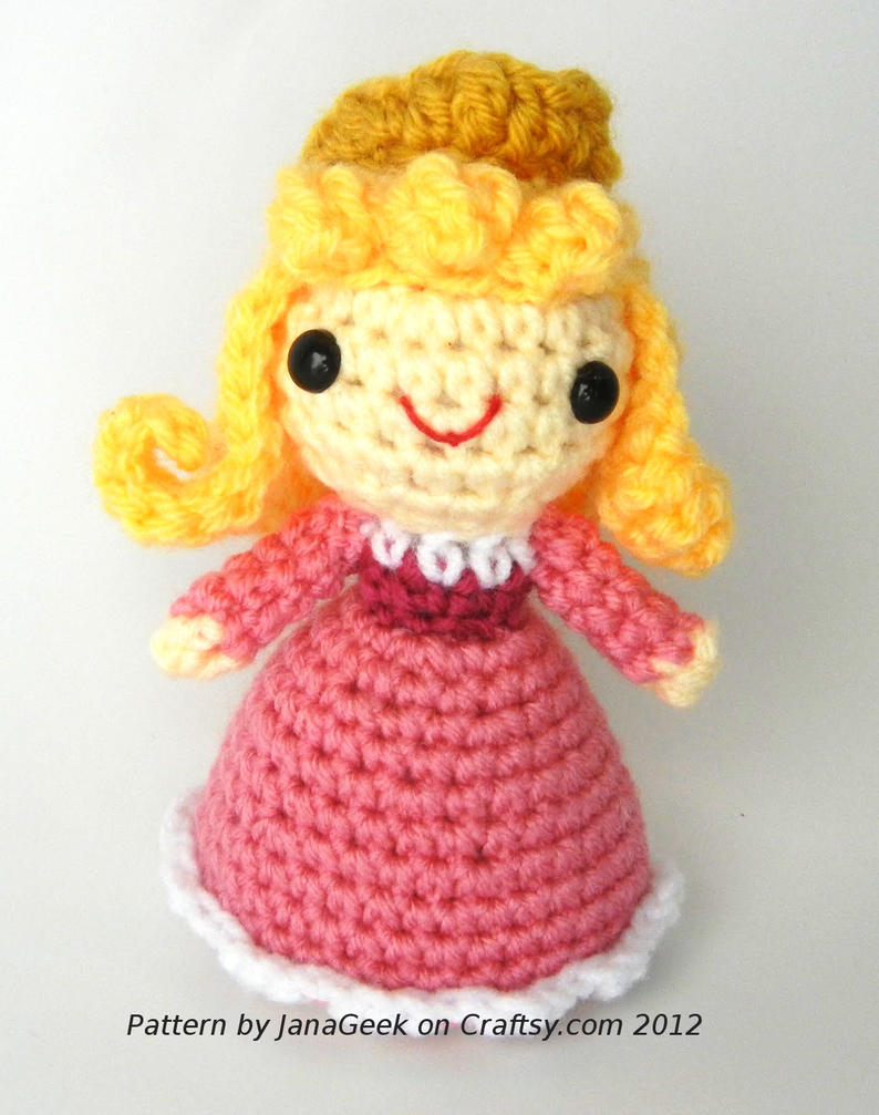 Amigurumi Disney Free Pattern : Sleeping Beauty Aurora Amigurumi Crochet Pattern by ...