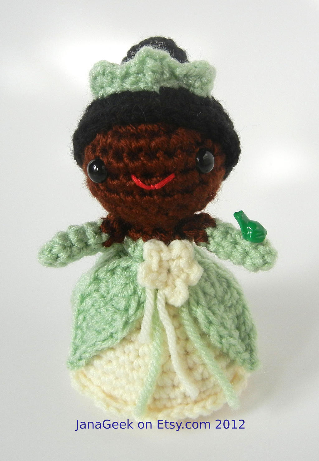 Disney Frog Princess Tiana Amigurumi Crochet by janageek ...