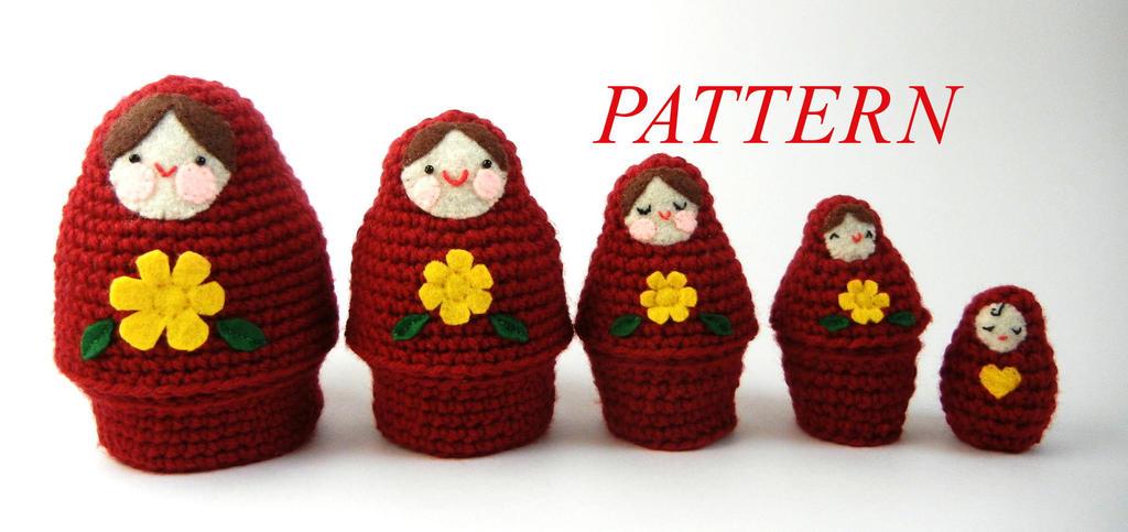 Amigurumi Russian Dolls : Crochet Matryoshka Russian Nesting Dolls by janageek on ...