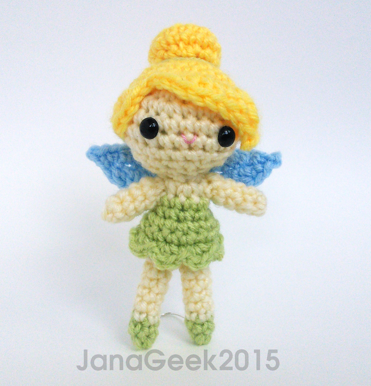 Free Amigurumi Head Pattern : Tinker Bell Fairy Doll Amigurumi Crochet by janageek on ...