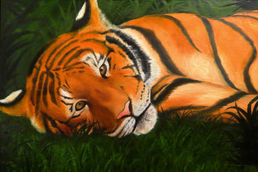 Tiger In The Grass by AokiBengal