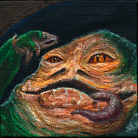 canvas Jabba the Hutt by AokiBengal