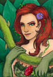 Poison Ivy Sketch Card