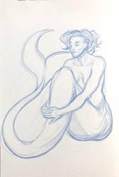 Lifedrawing Mermaid by AokiBengal