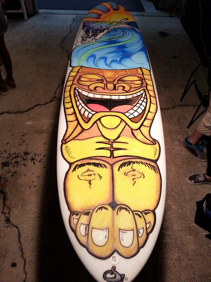 #Sean Farmer#Surfboard art#Surf Art#Tiki surfb by SPLDRAGER