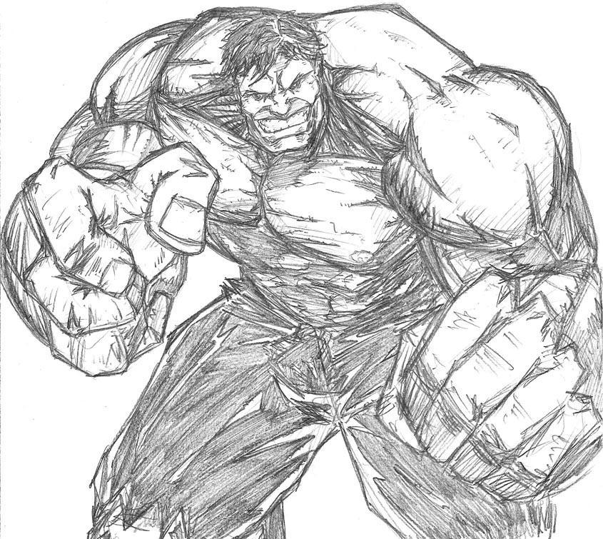 Incredible Hulk Sketch By Ribs7 On DeviantArt